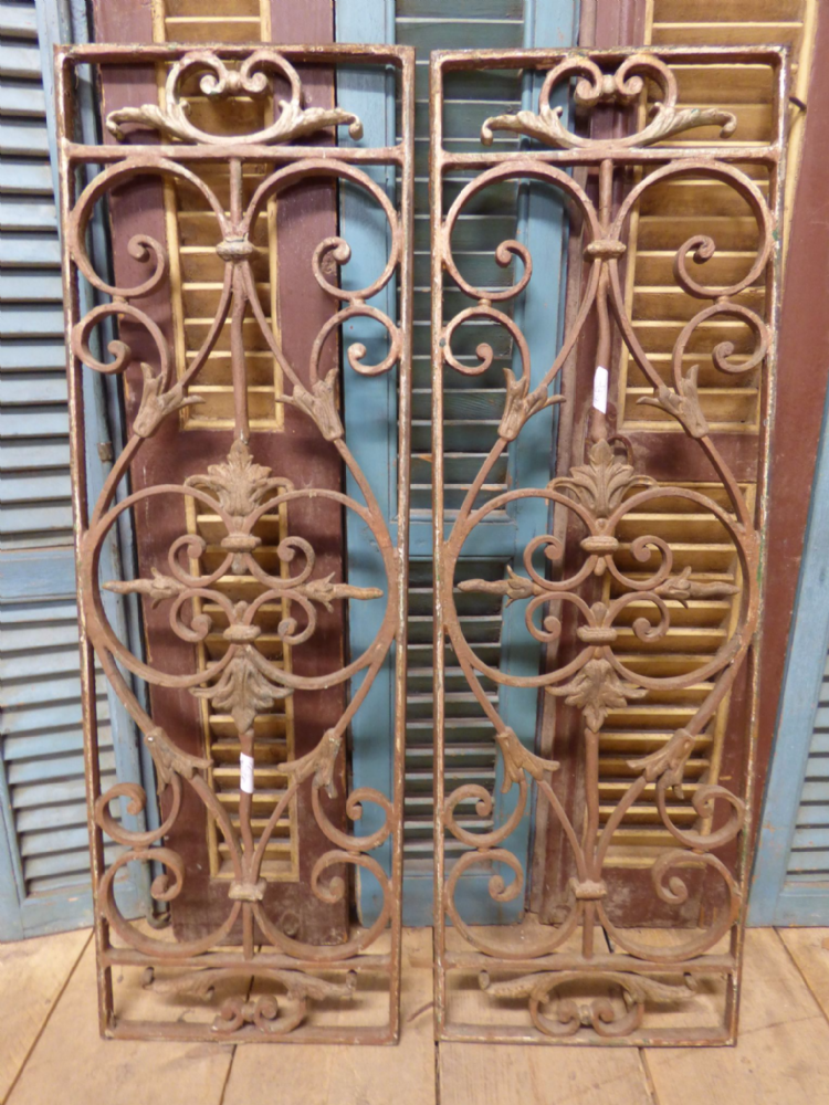 Pair of Antique French Window Grills - SOLD